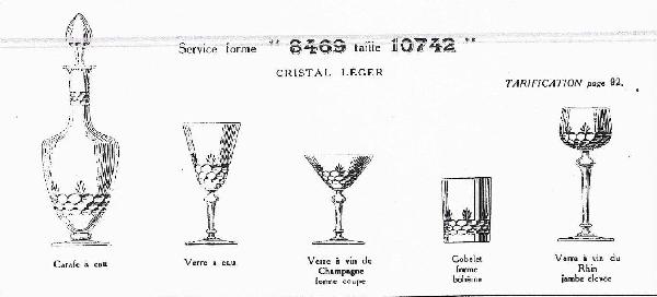 Coupe à champagne en cristal de Baccarat, modèle à écailles et palmettes