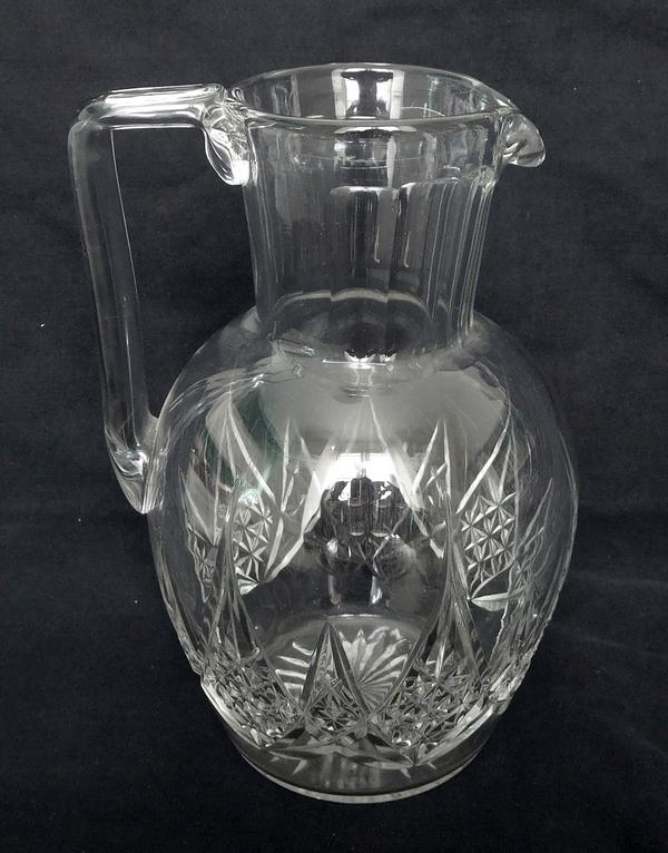 Pichet / broc / carafe à eau en cristal de Baccarat, modèle Epron