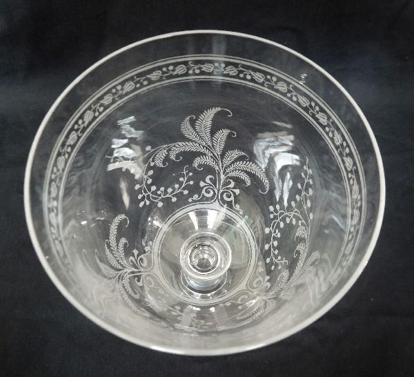 Coupe à champagne en cristal de Baccarat, modèle Fougères