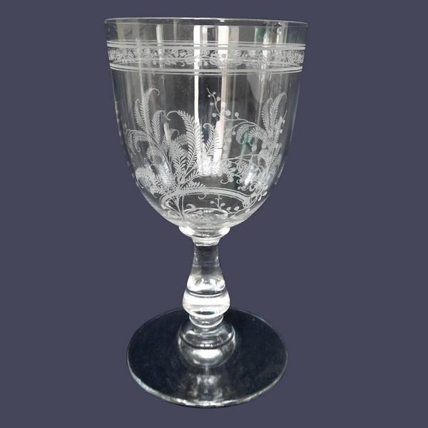 Verre à vin en cristal de Baccarat, modèle Fougères - 12cm