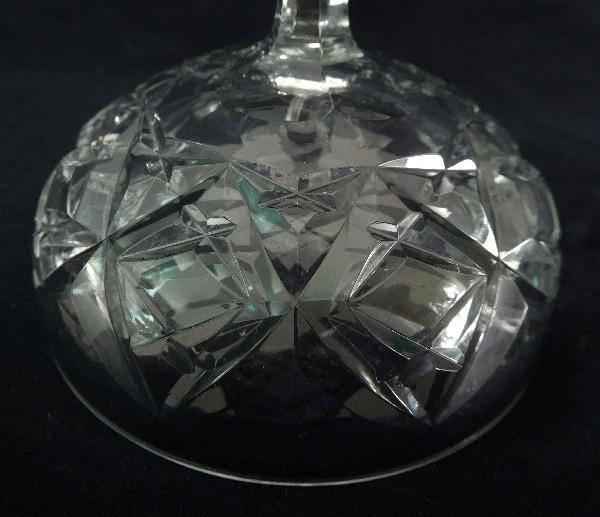 Coupe à champagne en cristal de Baccarat, modèle Harfleur - signée