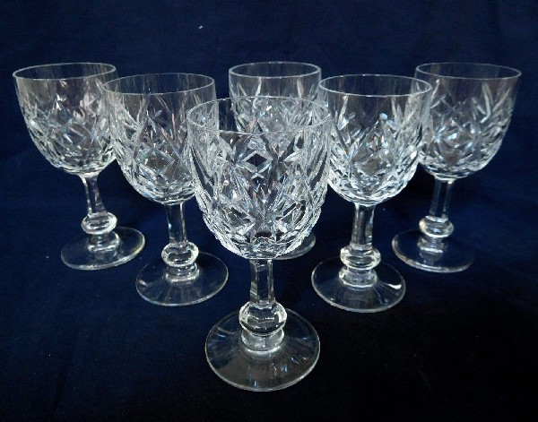 Verre à eau en cristal de Baccarat, modèle Harfleur - 17cm - signé