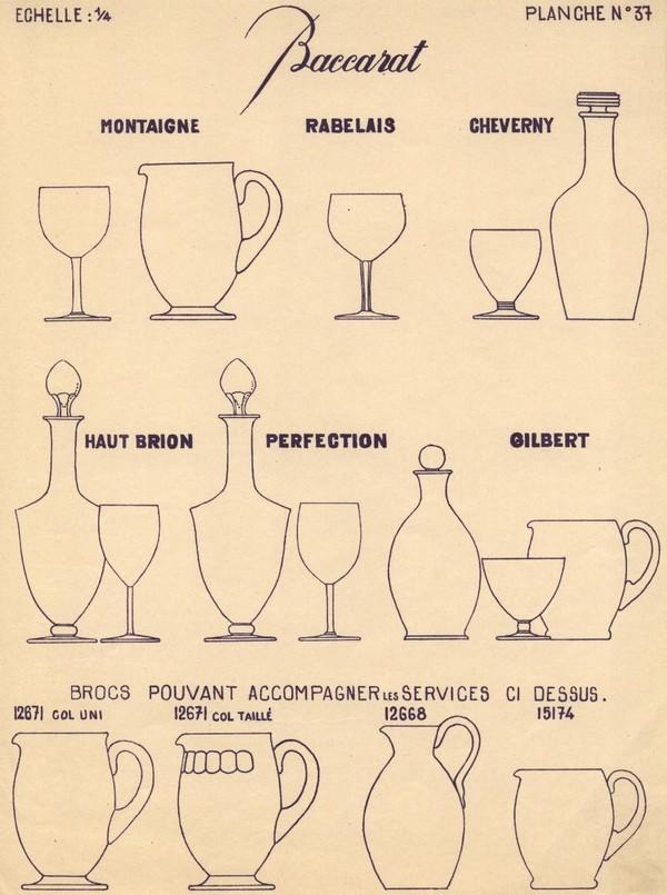 Grand verre à vin en cristal de Baccarat, modèle Haut-Brion - signé - 15cm