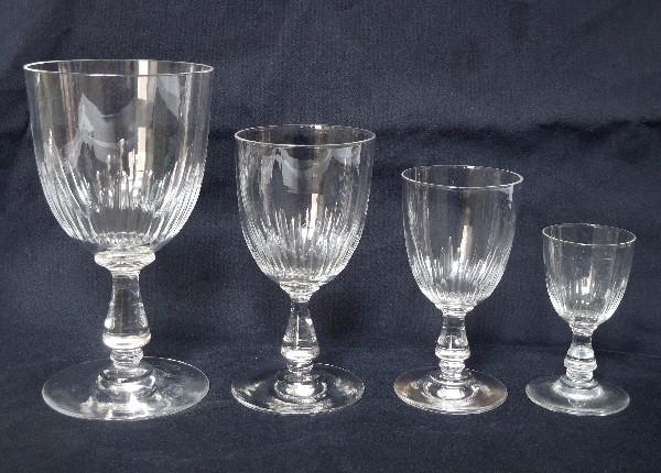 Verre à vin ou porto en cristal de Baccarat, modèle Jeux d'Orgues - 9,8cm