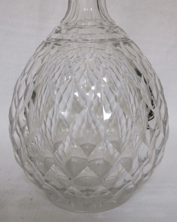 Carafe en cristal de Baccarat, modèle Juvisy (service officiel de l'Elysée)