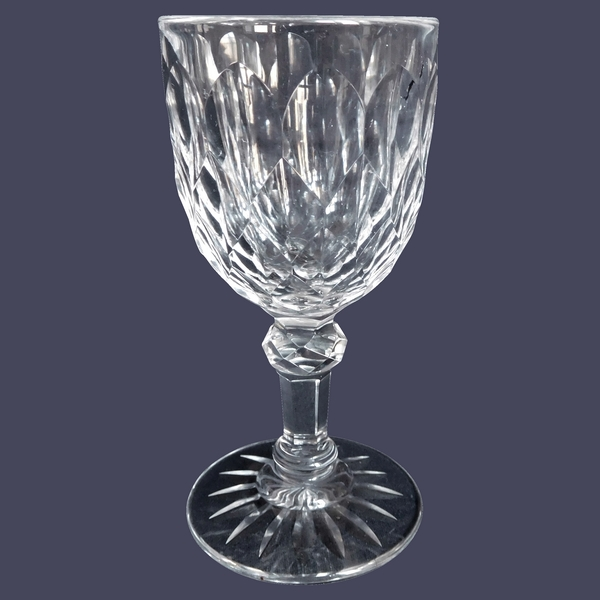 Verre à vin blanc / porto en cristal de Baccarat, modèle Juvisy (service officiel de l'Elysée)