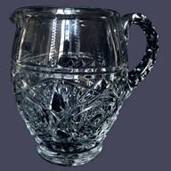 Carafe à eau / pichet / broc en cristal de Baccarat, modèle Lagny - signée