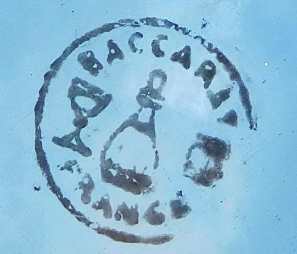 Carafe à eau en cristal de Baccarat, modèle Lagny - signée - 31,5cm