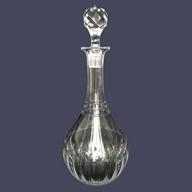 Carafe à vin en cristal de Baccarat, modèle Louis XVI