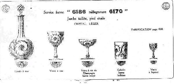 Coupe à champagne en cristal de Baccarat, modèle Maintenon