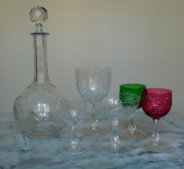Verre à eau en cristal de Baccarat, modèle Maintenon - 15,7cm
