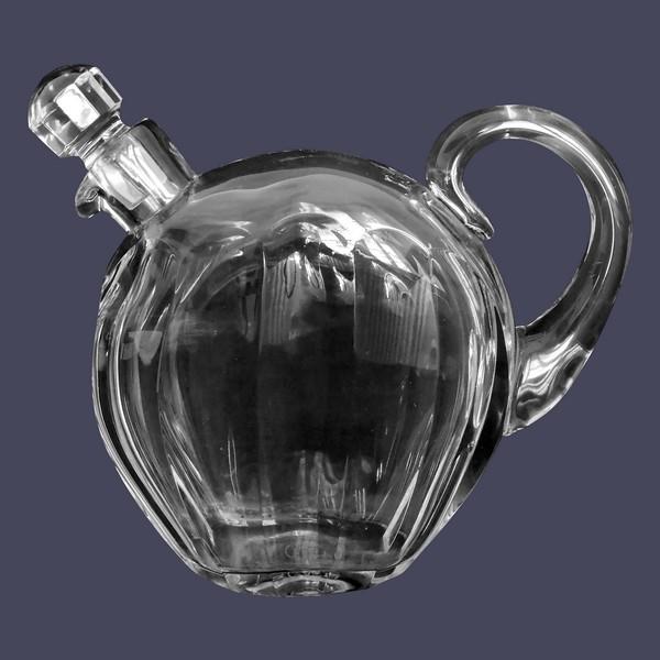 Carafe / flacon à whisky en cristal de Baccarat taillé, modèle Malmaison - signé
