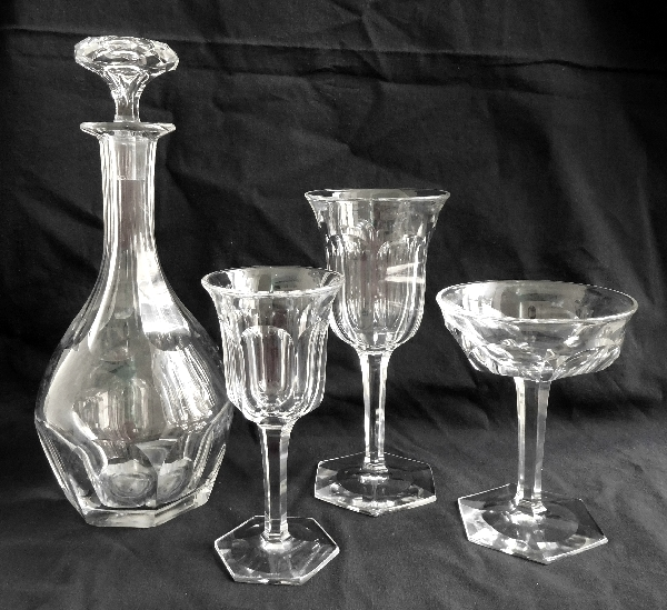 Carafe à vin en cristal de Baccarat, modèle Malmaison