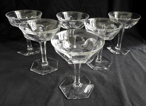 Coupe à champagne en cristal de Baccarat, modèle Malmaison