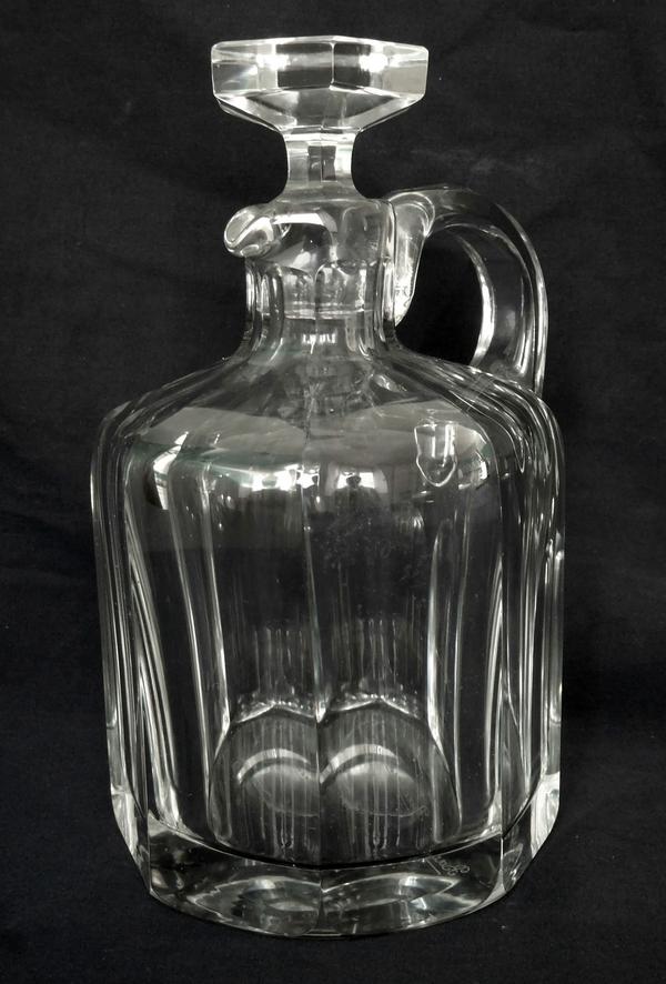 Broc / flacon à whisky en cristal de Baccarat taillé, modèle Malmaison - signé