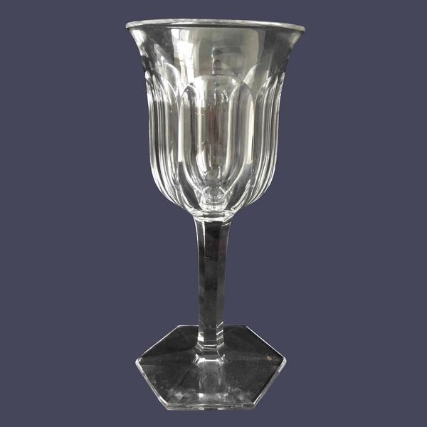Verre à vin en cristal de Baccarat, modèle Malmaison