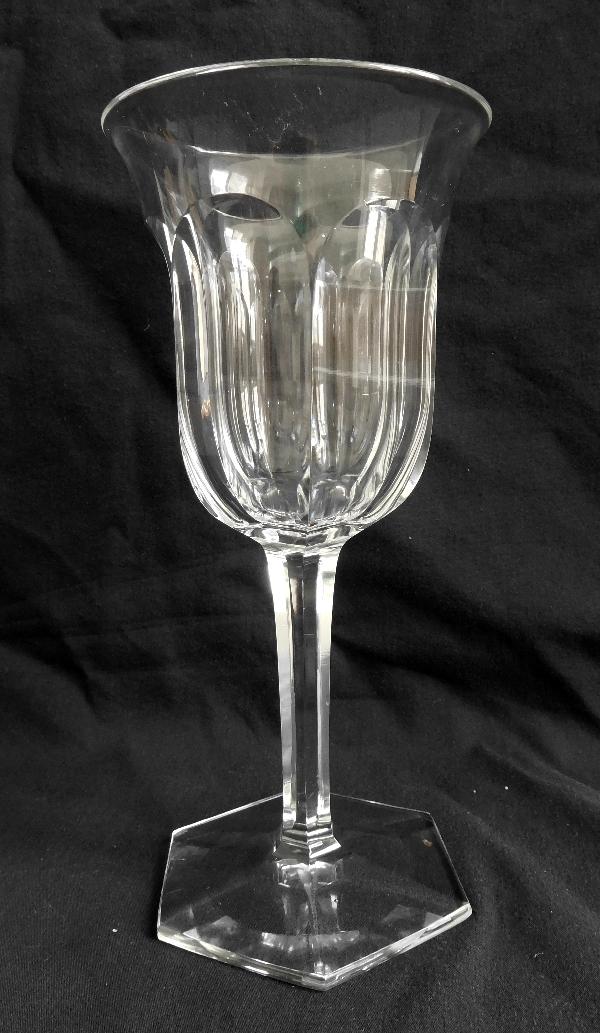 Verre à eau en cristal de Baccarat, modèle Malmaison
