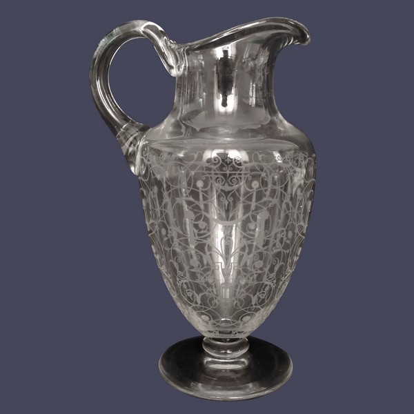 Carafe à eau / pichet / broc en cristal de Baccarat, modèle Michelangelo (Michel Ange)