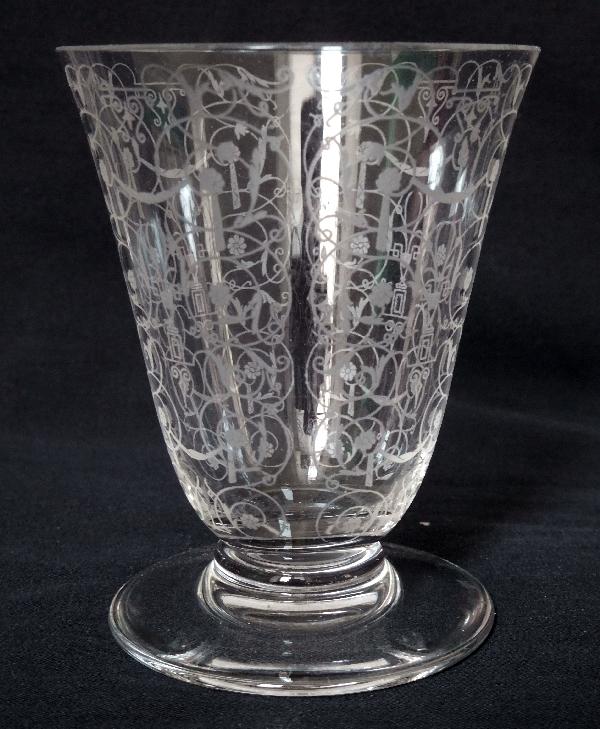 Verre à eau en cristal de Baccarat, modèle Michelangelo (Michel Ange) - 10cm - signé