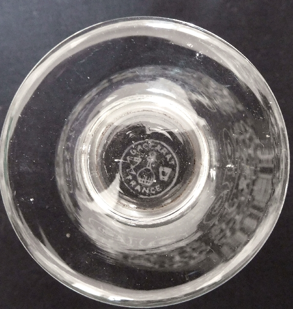 Verre à vin blanc ou porto en cristal de Baccarat, modèle Michelangelo (Michel Ange) - 8cm - signé