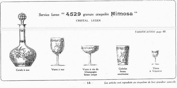 Carafe à vin en cristal de Baccarat, modèle Mimosas - 27,1cm
