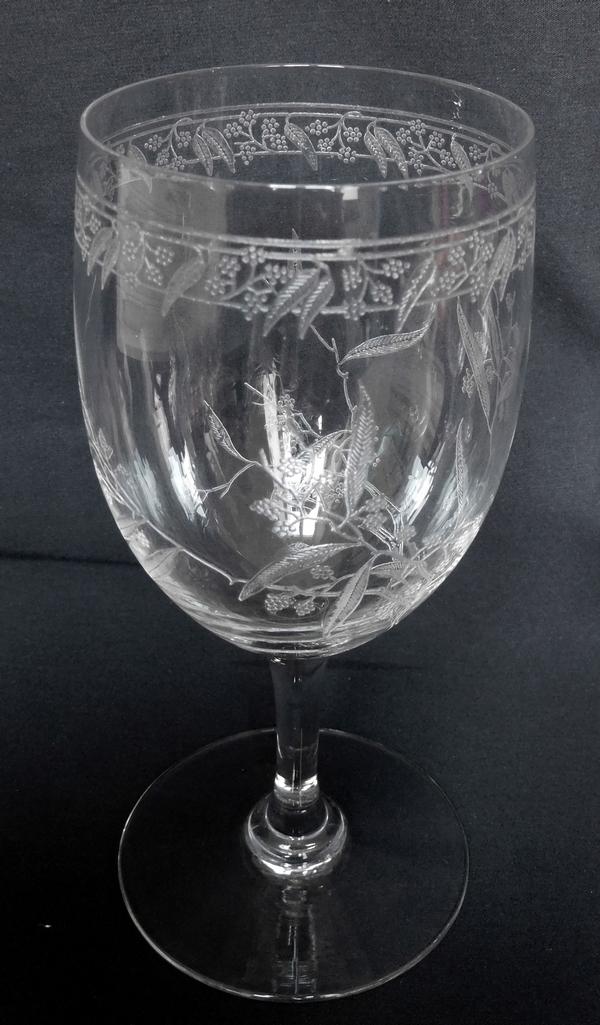 Verre à eau en cristal de Baccarat, modèle Mimosas - 16cm