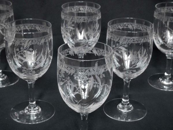 Verre à porto en cristal de Baccarat, modèle Mimosas - 10,9cm