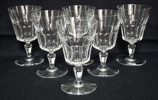 Verre à vin blanc ou porto en cristal de Baccarat, modèle Missouri - signé - 12cm