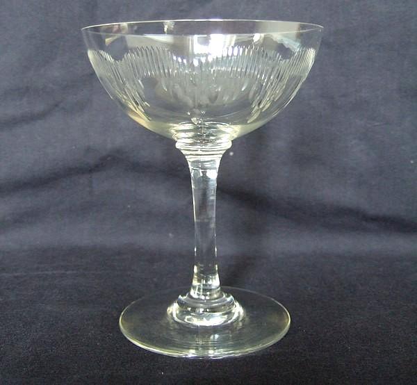 Coupe à champagne en cristal de Baccarat, modèle Molière