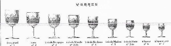 Coupe à champagne en cristal de Baccarat, modèle Nancy