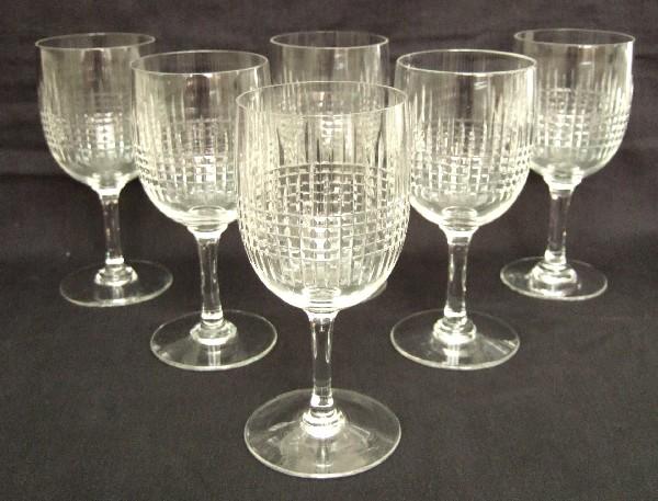 Verre à eau en cristal de Baccarat, modèle Nancy - 15,4cm