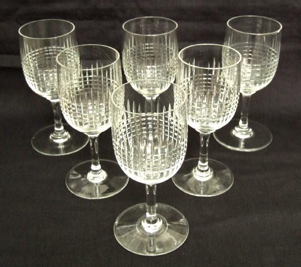 Verre à vin blanc ou porto en cristal de Baccarat, modèle Nancy - 10,8cm