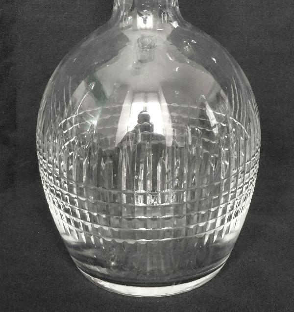 Carafe à liqueur en cristal de Baccarat, modèle Nancy - signée - 22cm