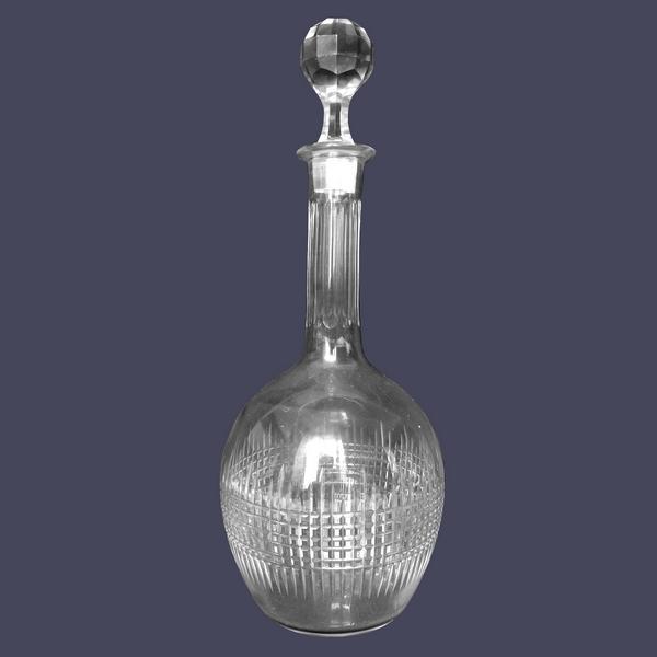 Carafe à vin en cristal de Baccarat, modèle Nancy