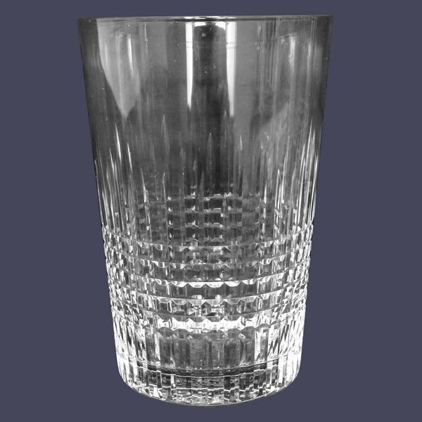 Gobelet / verre à bière en cristal de Baccarat, modèle Nancy - 10,6cm - signé