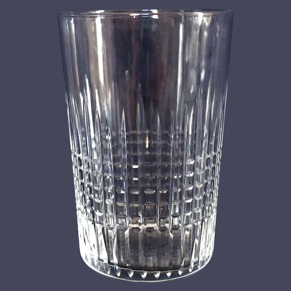 Verre / gobelet à eau ou à whisky en cristal de Baccarat, modèle Nancy - signé - 10cm