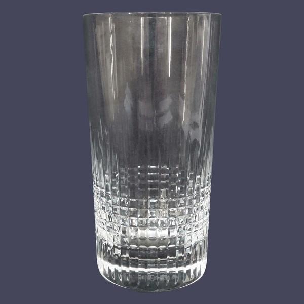 Grand verre à orangeade en cristal de Baccarat, modèle Nancy - signé