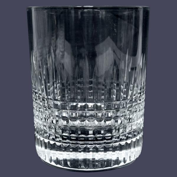 Verre à whisky en cristal de Baccarat, modèle Nancy - signé