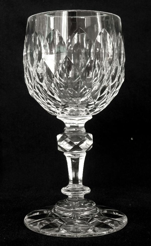 Verre à vin du Rhin en cristal de Baccarat, modèle Nîmes (variante de Juvisy)