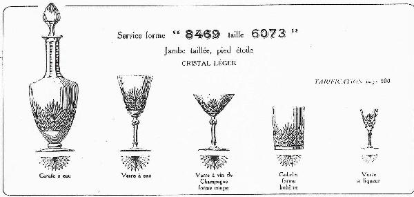 Coupe à champagne en cristal de Baccarat, modèle à palmettes conique