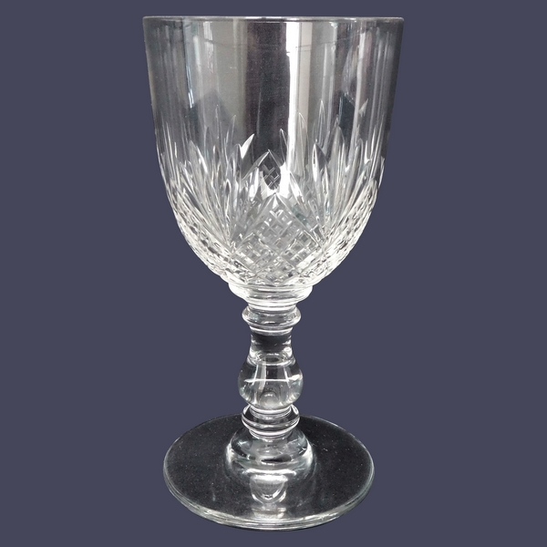 Verre à eau en cristal de Baccarat, modèle à palmettes et jambe gondole - 15,5cm
