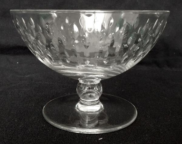 Coupe à champagne en cristal de Baccarat, modèle Paris