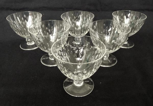 Verre à vin blanc ou porto en cristal de Baccarat, modèle Paris - 6,6cm - signé