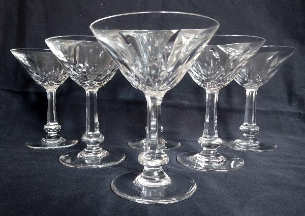 Coupe à champagne en cristal de Baccarat, modèle Picardie - signée