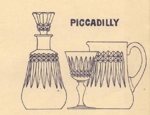 Carafe à vin / flacon à whisky en cristal de Baccarat, modèle Piccadilly - signé