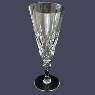 Flûte à champagne en cristal de Baccarat, modèle Piccadilly - signée