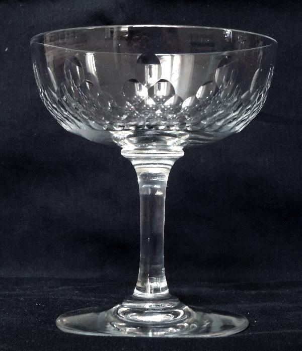 Coupe à champagne en cristal de Baccarat, modèle Richelieu