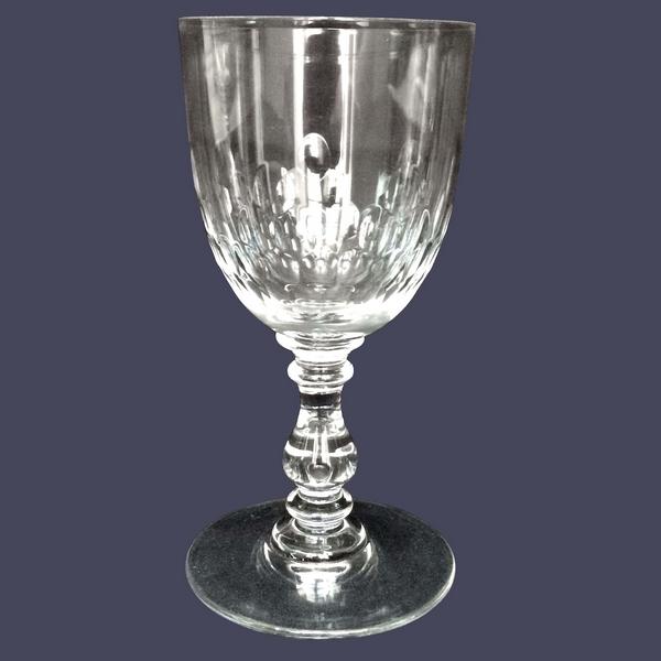 Petit verre à vin ou verre à porto en cristal de Baccarat, modèle Richelieu (jambe balustre) - 10,9cm