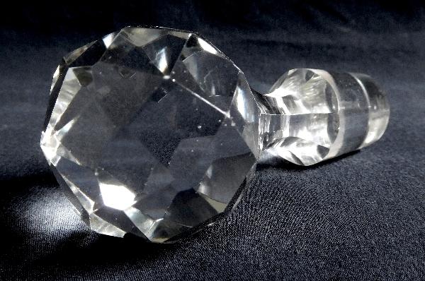 Carafe à vin en cristal de Baccarat, modèle Richelieu cylindrique - 29,5cm