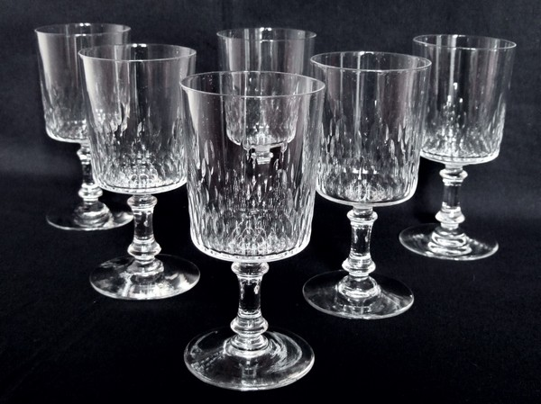Verre à vin en cristal de Baccarat, modèle Richelieu cylindrique - 12,3cm